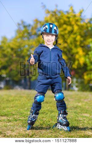 Smiling Little Skater Boy