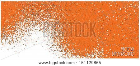 horizontal rippling bright orange texture vector background