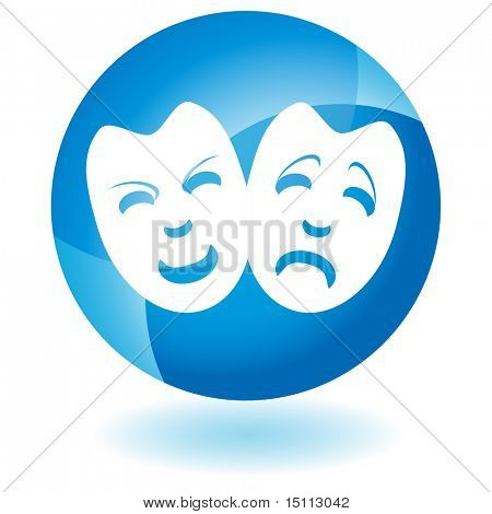 drama mask glass