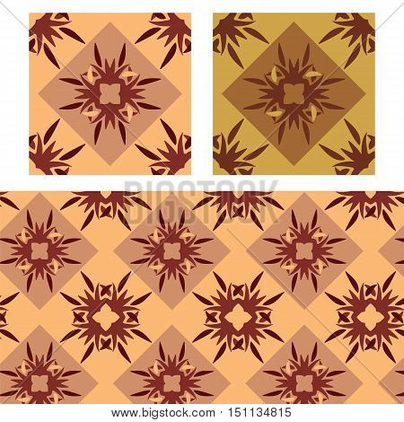 abstract redish plain floral diamond seamless patterns vector illustration