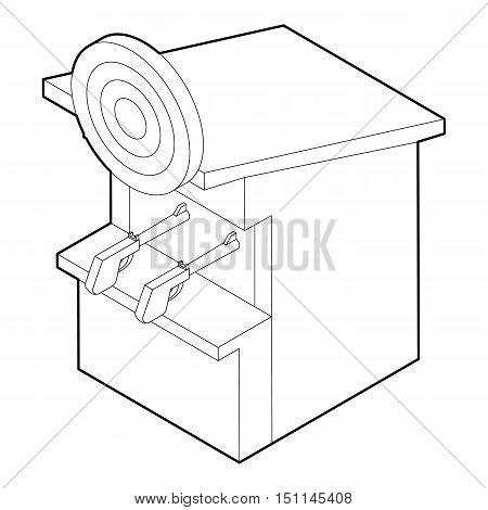 Shooting gallery icon. Outline illustration of shooting gallery vector icon for web