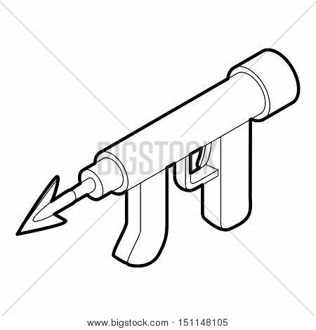 Underwater speargun icon. Outline illustration of underwater speargun vector icon for web