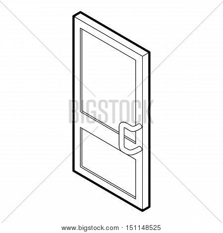 Door icon. Outline illustration of door vector icon for web isolated on white background