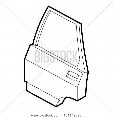 Car door icon. Outline illustration of car door vector icon for web