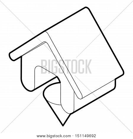 Location of the house icon. Outline illustration of location of the house vector icon for web