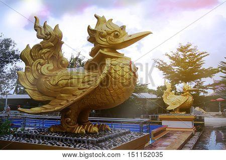 Garuda be enshrined area inside the temple area