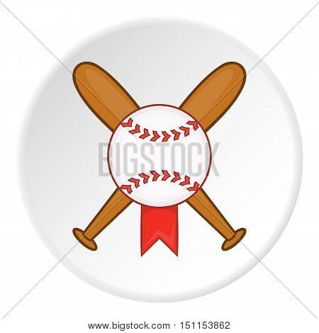 Baseball bat and ball icon. cartoon illustration of baseball bat and ball vector icon for web