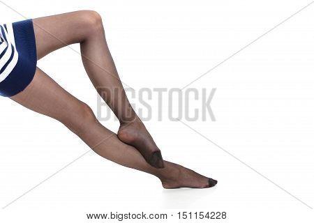 Beautiful Legs Of Slim Girl