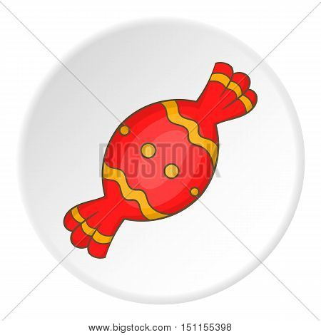 Candy in red wrapper icon. cartoon illustration of candy vector icon for web