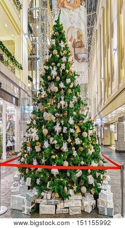 Beautiful Christmas Tree At The Galerija Centrs In Old Riga