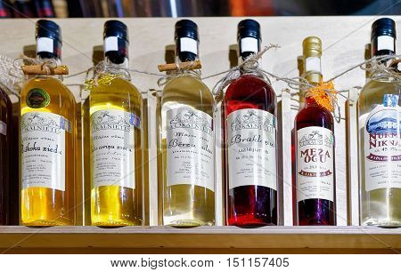Latvian Wine And Liquor On Display At Riga Christmas Market