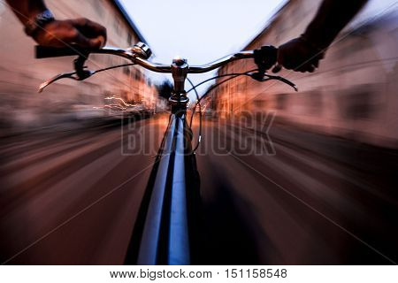 ride at high speed bike seems the time machine