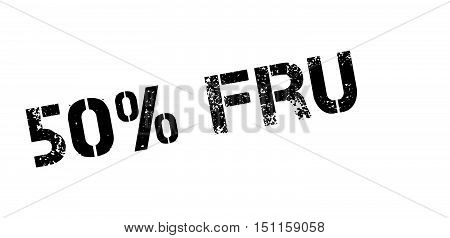 50 Percent Fruit Rubber Stamp