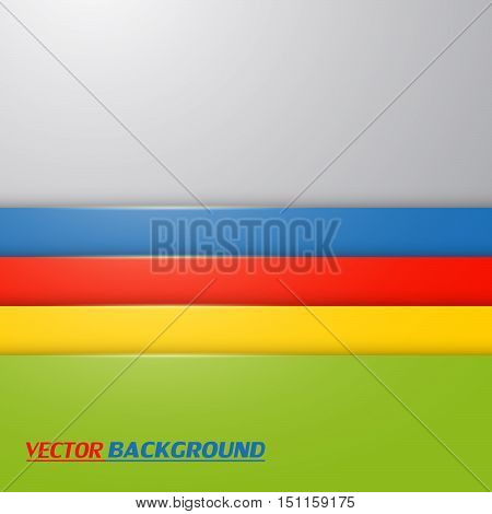 Colorful abstract line background, vector for design.