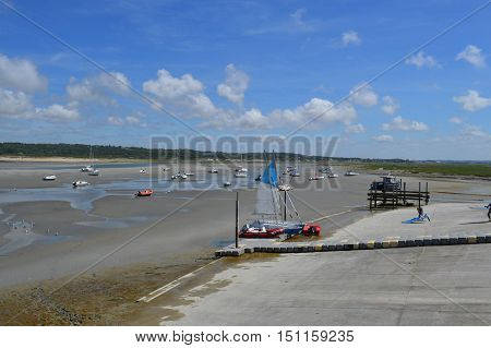 View to the bay of Touquet Paris plage