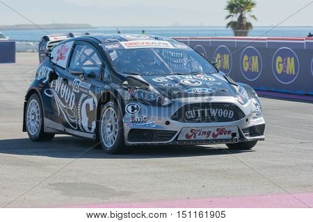 Patrik Sandell 18, Drives A Ford Fista St Car, During The Red Bull Global Rallycross
