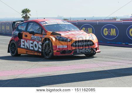 Steve Arpin 00, Drives A Ford Fista St Car, During The Red Bull Global Rallycross