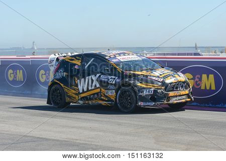 Tanner Whitten 07, Drives A Ford Fista St Car, During The Red Bull Global Rallycross Championship