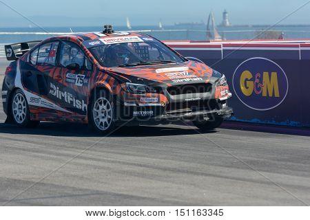 David Hiddins 75, Drives A Subaru Wrx Sti Car, During The Red Bull Global Rallycross