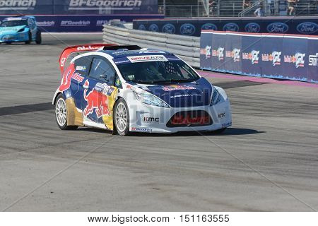 Oliver Eriksson 16, Drives A Grc Lites Car, During The Red Bull Global Rallycross