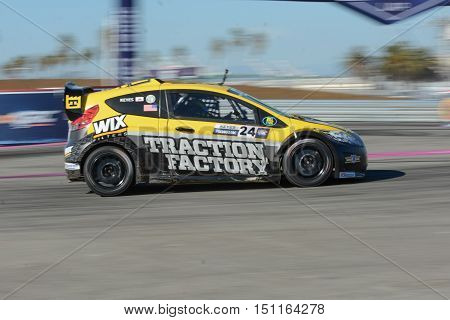 Mitchell Dejong 24, Drives A Honda Civic Car, During The Red Bull Global Rallycross