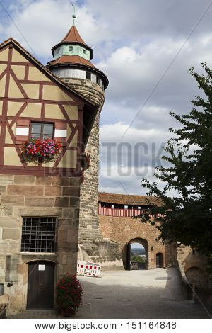 Nuremberg, Germany - Aug 23, 2016: Inside View Of The Kaiserburg, Medieval Castle In Nuremberg, Germ