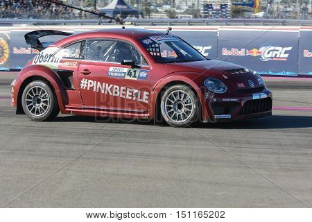 Scott Speed 41, Drives A Volkswagen Beetle Car, During The Red Bull Global Rallycross