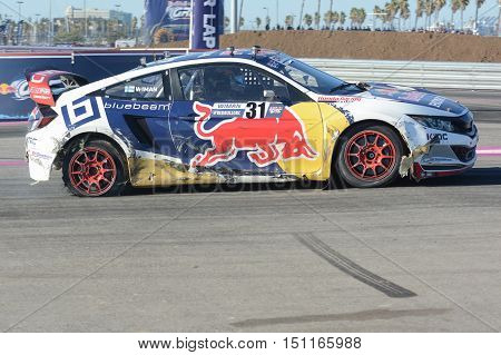 Joni Wiman 31, Drives A Honda Civic Car, During The Red Bull Global Rallycross