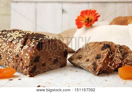 Rye Unleavened  Bread Without Yeast Sprinkled Sesame