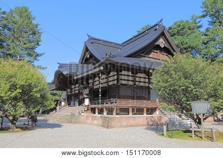 Famous landmark Oyama Shrine in Kanazawa Japan