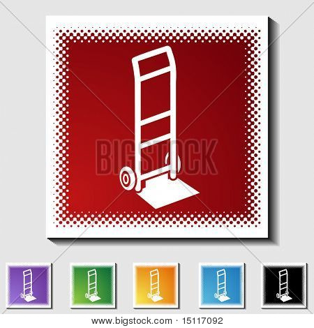 hand truck icon tone