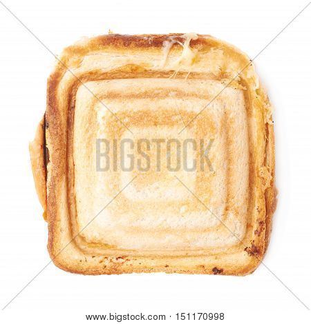 Hot prepared sandwich over white isolated background
