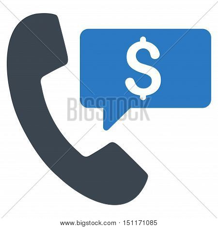 Phone Order icon. Glyph style is bicolor flat iconic symbol with rounded angles, smooth blue colors, white background.