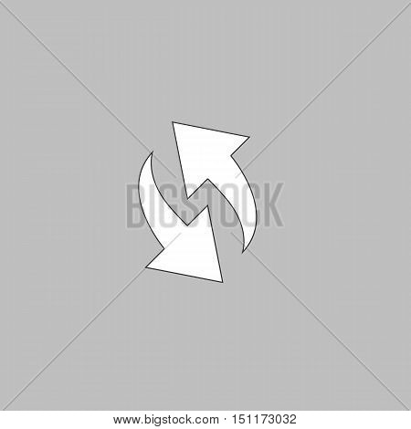 Arrows Icon Vector. Flat simple color pictogram