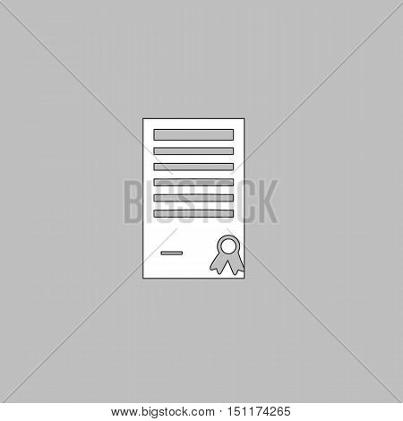 Charter Icon Vector. Flat simple color pictogram