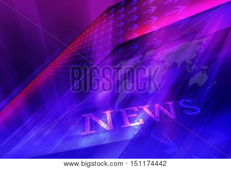 Graphical Modern Studio News Background Suitable for Internt and Tv News.