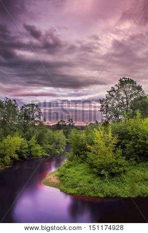 Big Juglas river bend /Spectacular river in Latvia.