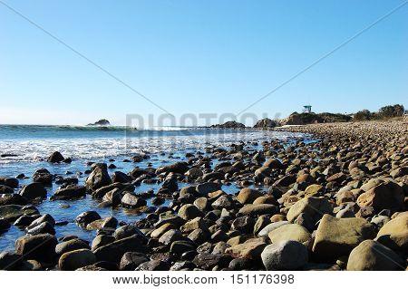 Rock Beach at Leo Carrillo State Park in Malibu, California, USA.