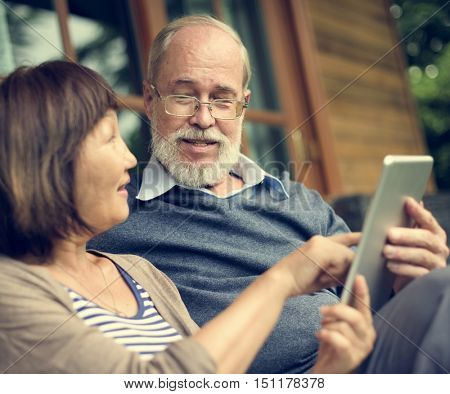 Senior People Communication Connection Concept