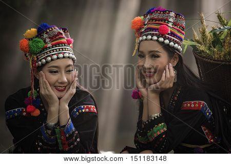 tribe in beautiful costume dress.beautiful tribe .