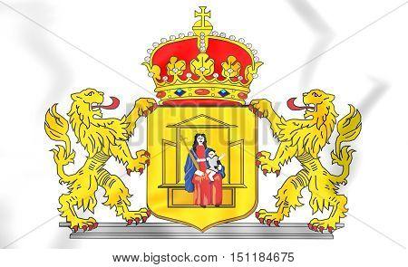Drenthe Province Coat Of Arms, Netherlands. 3D Illustration.