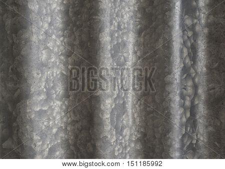 Old corrugated zinc galvanized grunge metal texture