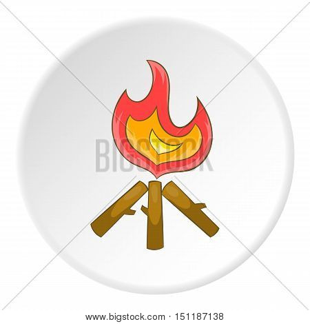 Campfire icon. artoon illustration of campfire vector icon for web