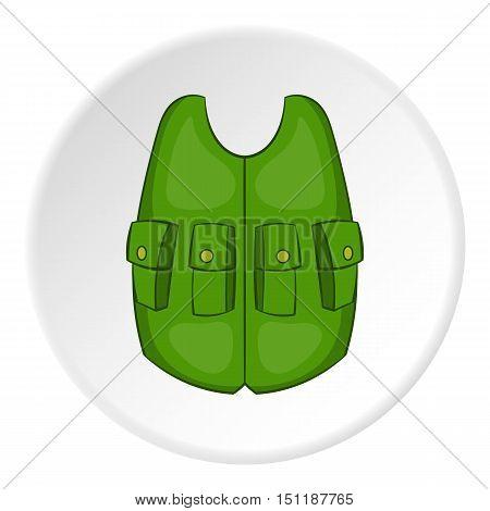 Green hunter vest icon. artoon illustration of green vest vector icon for web