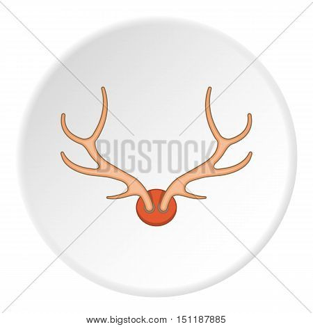 Antlers icon. artoon illustration of antlers vector icon for web