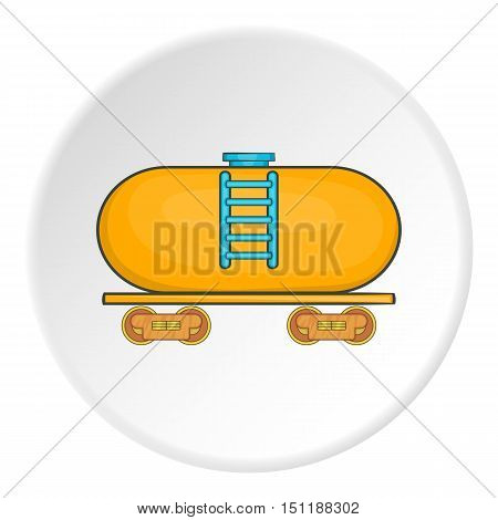 Yellow railroad tank icon. artoon illustration of vector icon for web