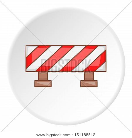 Traffic barrier icon. artoon illustration of barrier vector icon for web