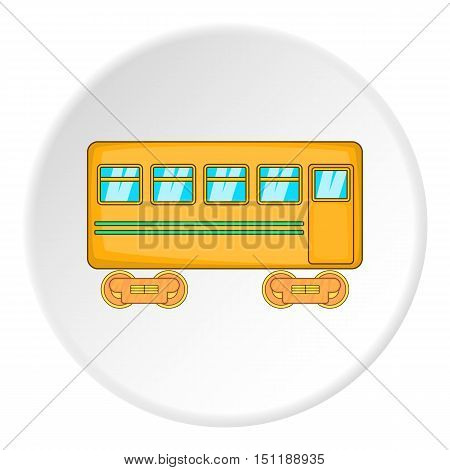 Passenger wagon icon. artoon illustration of passenger wagon vector icon for web