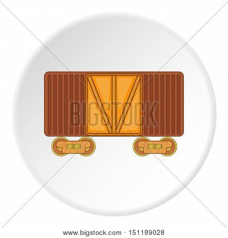 Railway cargo container icon. artoon illustration of railway cargo container vector icon for web
