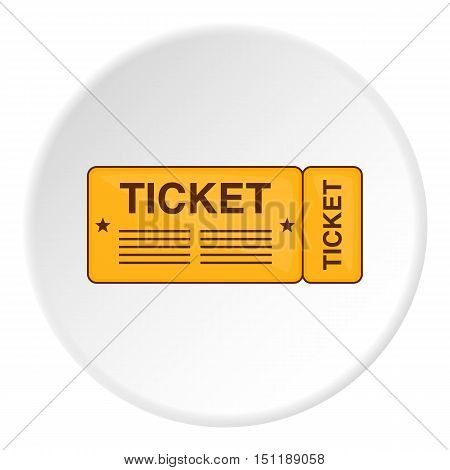 Ticket icon. artoon illustration of ticket vector icon for web